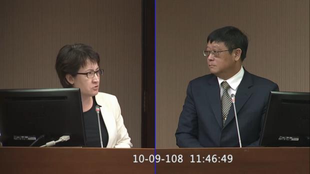 20191009蕭美琴質詢環保署長張子敬